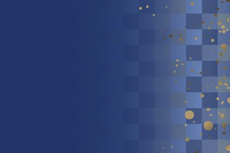 Fond de mosaïque carré abstrait bleu, illustration vectorielle