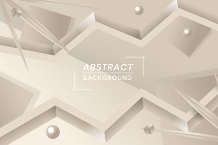 Abstract wavy shape design vector