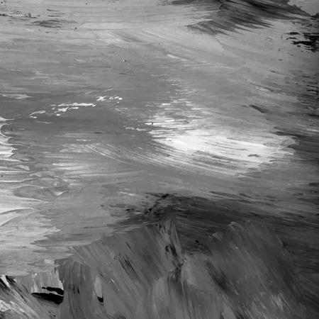 Vettore del fondo strutturato del tratto di pennello acrilico in bianco e nero Vettoriali