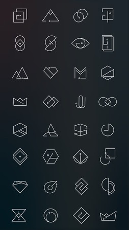 Minimal design logo collection, vector illustration