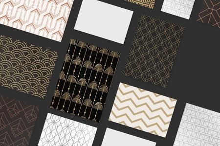 Vector de colección de diseño de patrón de gatsby moderno