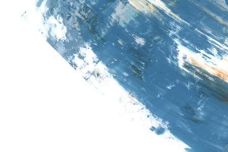 Blue acrylic brush stroke vector Illustration