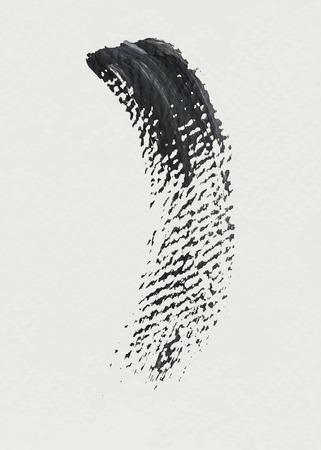 Black acrylic brush stroke vector
