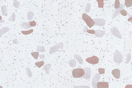 Pink and white terrazzo marble background, vector illustration Illustration