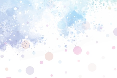 Pastel watercolor textured background vector 일러스트