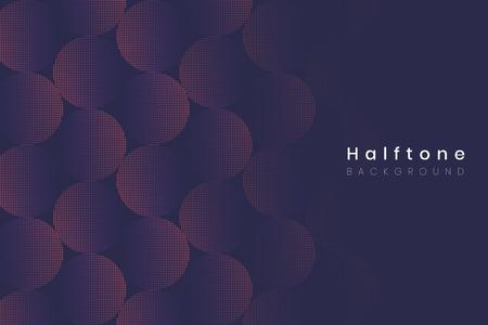 Geometrische halftone marineblauwe achtergrond vector