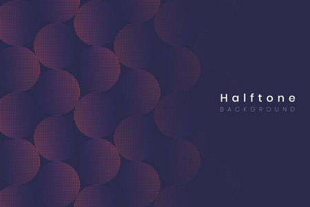 Geometric halftone navy blue background vector
