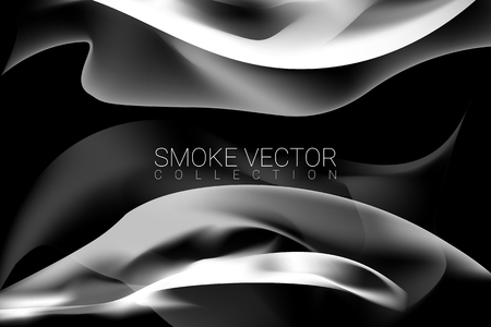 White smoke abstract background, vector illustration