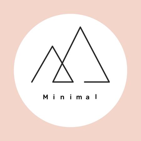 Minimal triangle logo design, vector illustration