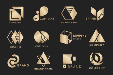 Il logo del marchio aziendale progetta la raccolta vettoriale