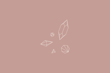 Geometric diamond design collection, vector illustration Stock Illustratie
