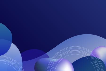 Blue modern gradient background vector  イラスト・ベクター素材