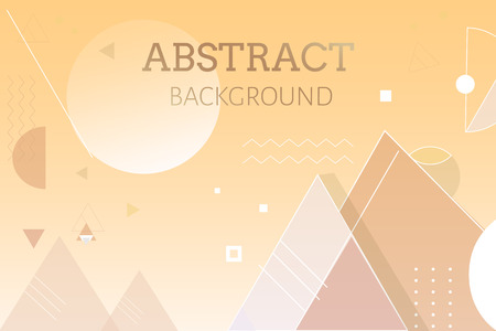 Yellow geometric abstract background, vector illustration