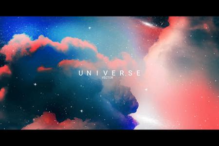 Colorful abstract universe textured background vector Illusztráció