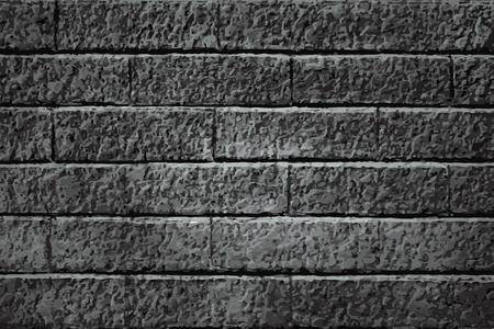 Dark gray brick textured background vector