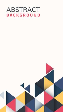 Fondo geometrico astratto multicolore, illustrazione vettoriale
