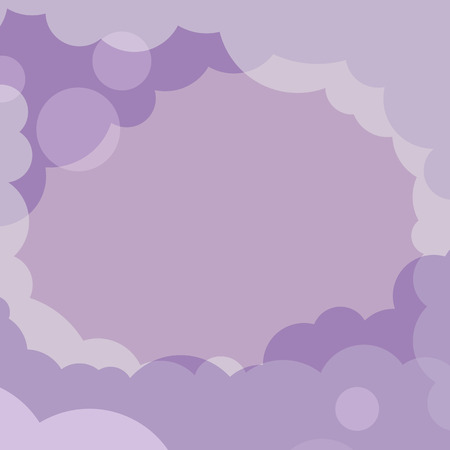 Abstract purple cloudy background vector