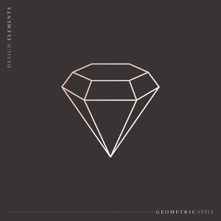 Linear geometric diamond design, vector illustration Stockfoto - 121628147