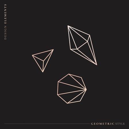 Geometric diamond design collection, vector illustration Stockfoto - 121628229