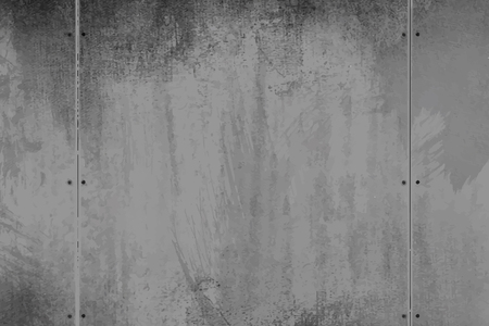 Rustic gray cement textured wall vector Çizim