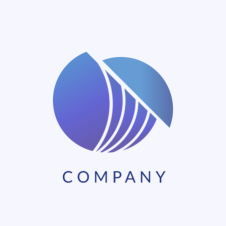 Company branding logo design, vector illustration