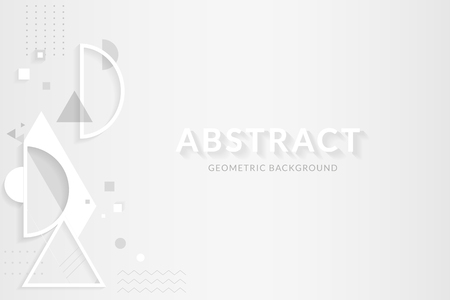 White abstract geometric background, vector illustration