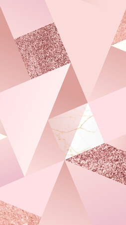 Pink feminine geometric background vector  イラスト・ベクター素材