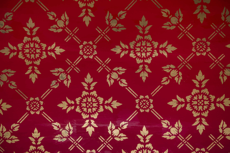 Vintage red and gold patterned background vector Illustration