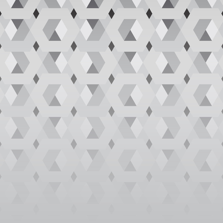 3D gray hexagonal patterned background vector