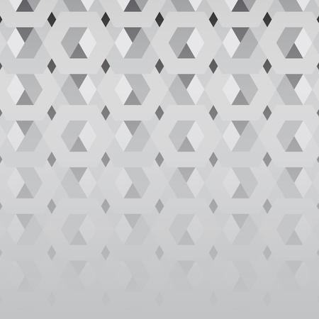 3D gray hexagonal patterned background vector