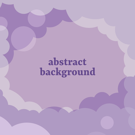 Abstract purple cloudy background, vector illustration