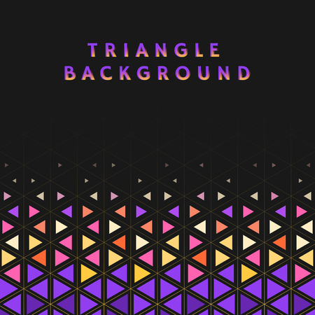 Colorful triangle patterned on black background Ilustrace