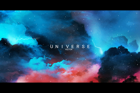Colorful abstract universe textured background vector Illusztráció