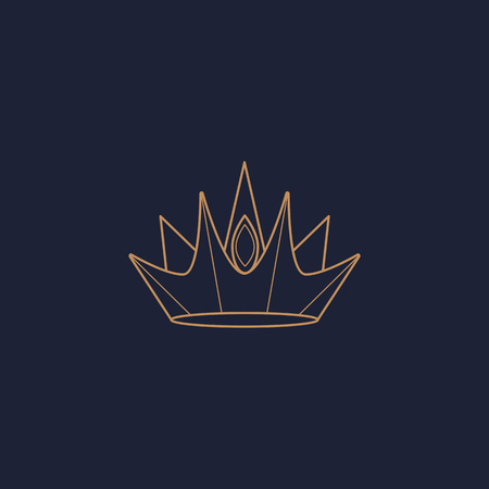 Luxurious blue crown design, vector illustration