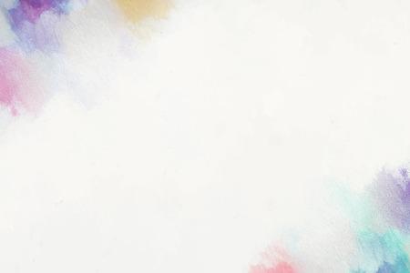 Vecteur de fond texturé aquarelle frontière colorée