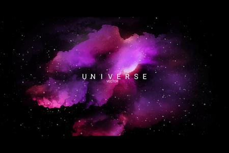 Colorful abstract universe textured background, vector illustration Ilustración de vector