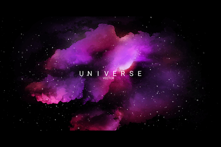 Colorful abstract universe textured background, vector illustration
