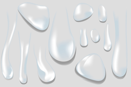 Various shapes of water drop vector Illustration