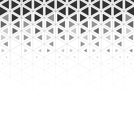 Gray triangle patterned on white background