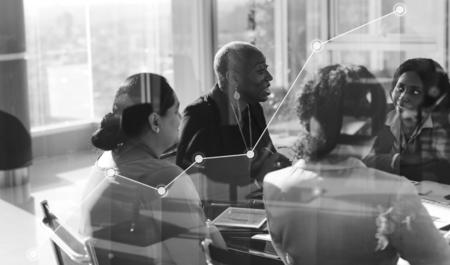 Diverse businesswomen having a meeting
