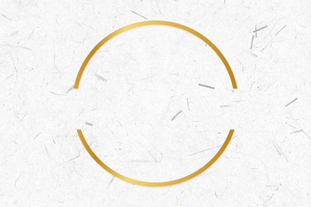 Golden framed semicircle on a paper texture Stock Photo