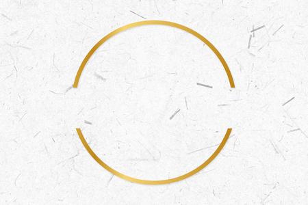 Golden framed semicircle on a paper texture Standard-Bild - 121628095
