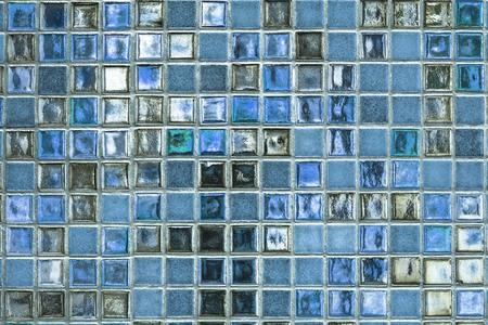 Blueish tiles textured background Stock Photo