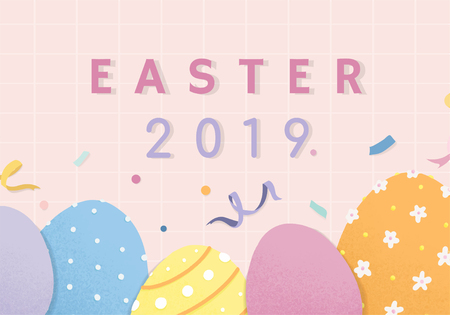 Happy Easter 2019 greetings card vector
