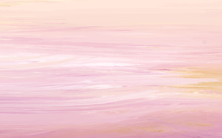 Peach abstract acrylic brush stroke textured background vector Vetores