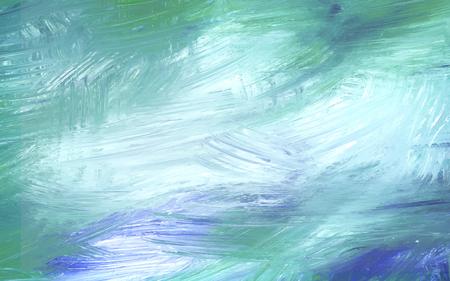 Teal abstracte acryl penseelstreek getextureerde achtergrond vector