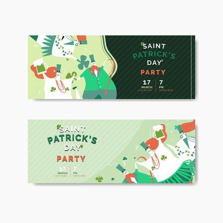 St. Patrick's Day celebration banners vector