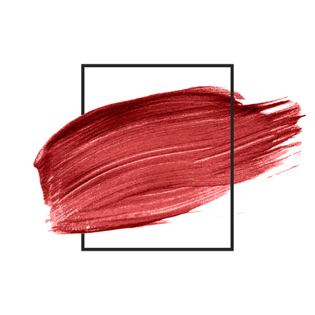 Red brush stroke badge vector 版權商用圖片 - 122626805