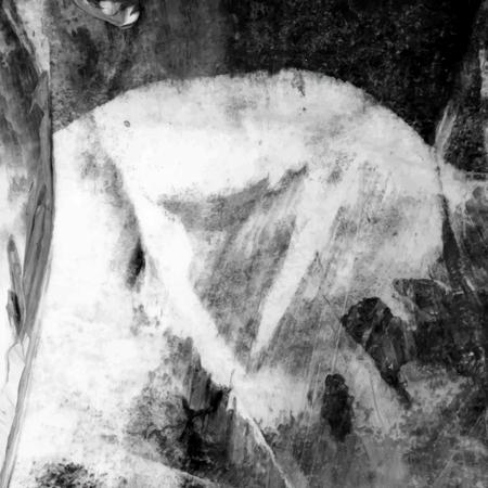Black and white acrylic brush stroke textured background vector Foto de archivo - 122626806