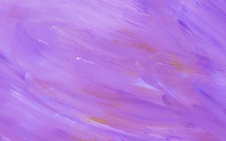 Vettore di fondo strutturato tratto di pennello acrilico astratto viola